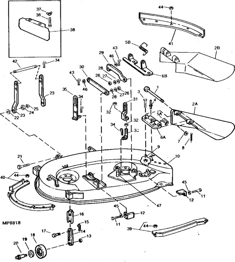 John Deere 185 Hydro Deck Belt Diagram
