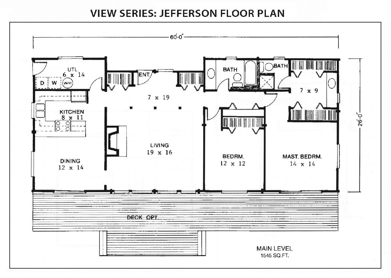 Jefferson Floor Plan View Series IHC