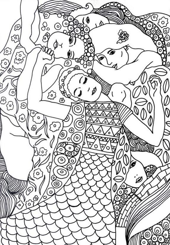 Disegni Da Colorare Per Adulti Gustav Klimt