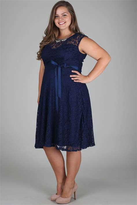 Navy Blue Lace Plus Size Maternity Dress   Weddings
