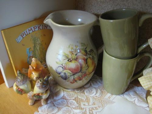 Pitcher and mugs