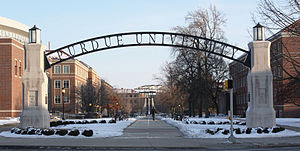 English: Entrance to the Engineering Mall at P...