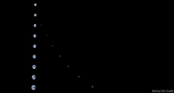 Earth-Moon from Juno October 9, 2013