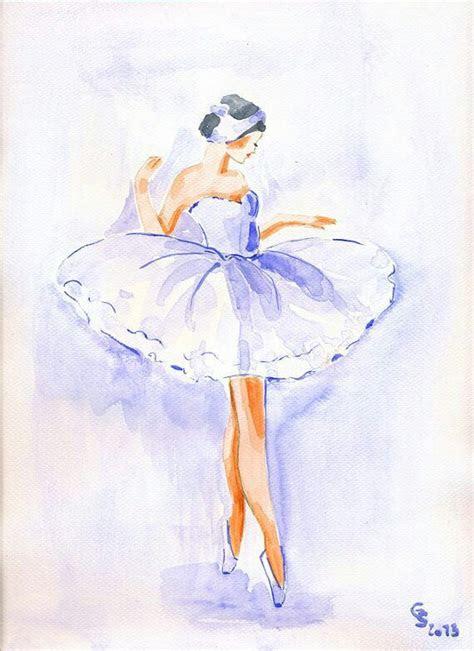watercolor drawing   ballerina flowersscentsarts