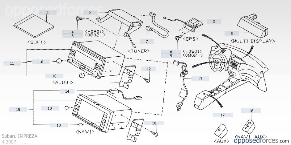 2001 Subaru Outback Parts Catalog