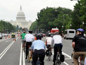 Biking capitol building