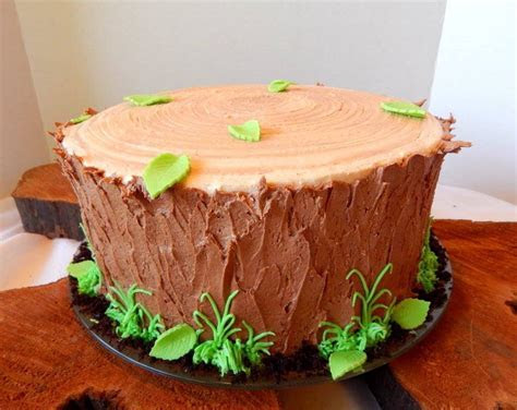 Tree Stump Cake   CakeCentral.com