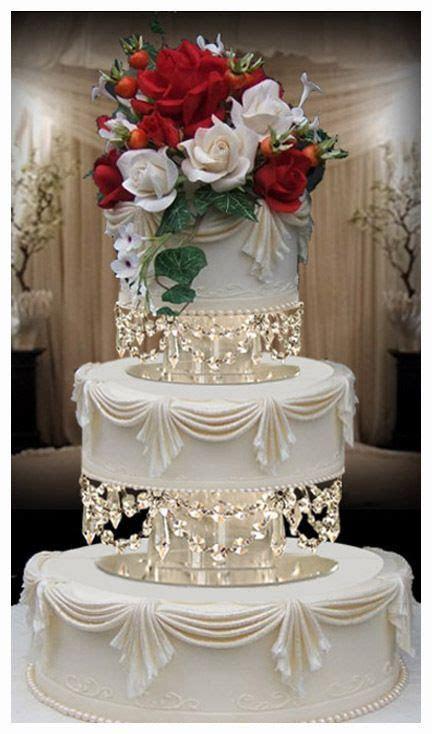 "Crystal Chandelier Wedding Cake Tier Separators 8""   10"