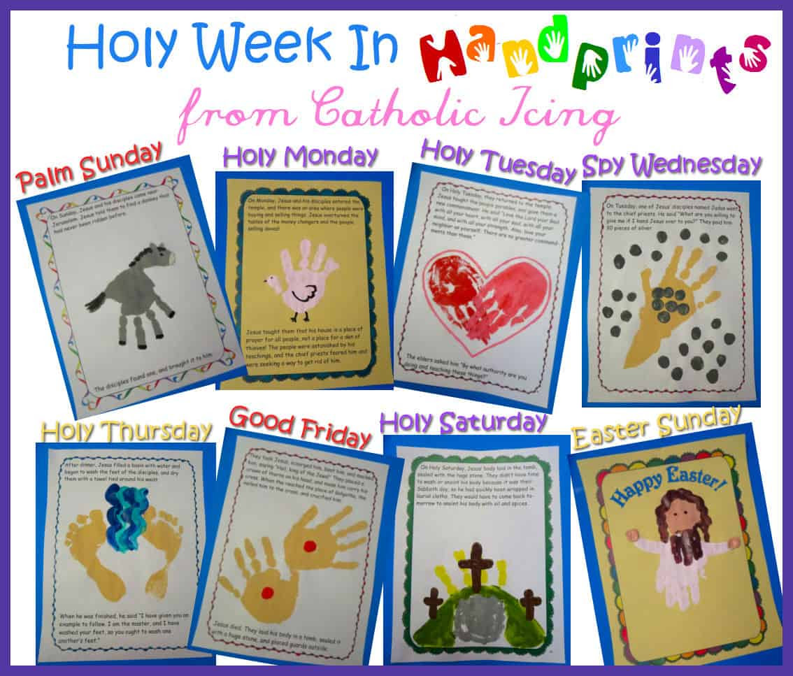 holy week in handprints book for kids