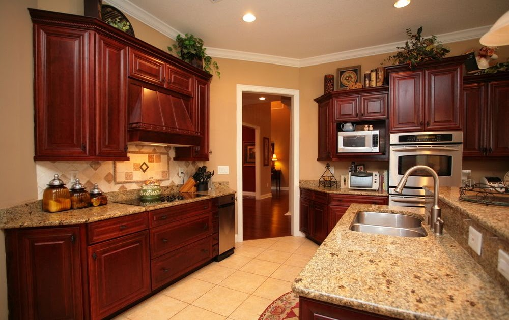 Kitchen Wall Color Ideas With Cherry Cabinets - Iwn Kitchen