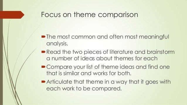 writing a literary compare and contrast essay