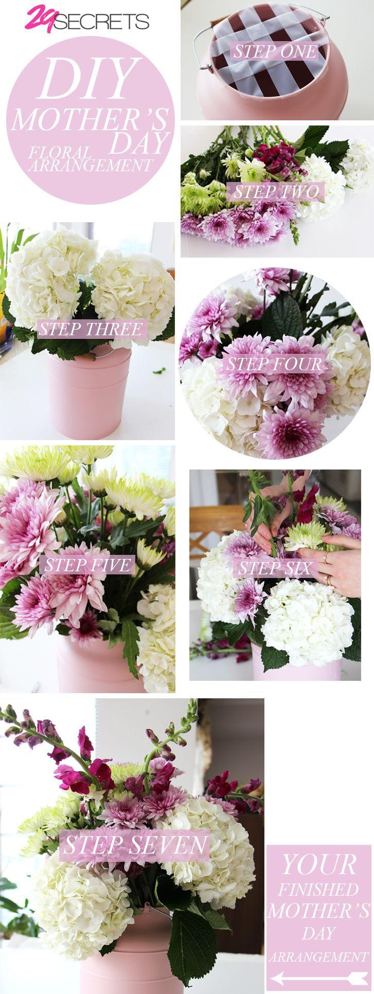 Diy Mother S Day Floral Arrangement 29secrets