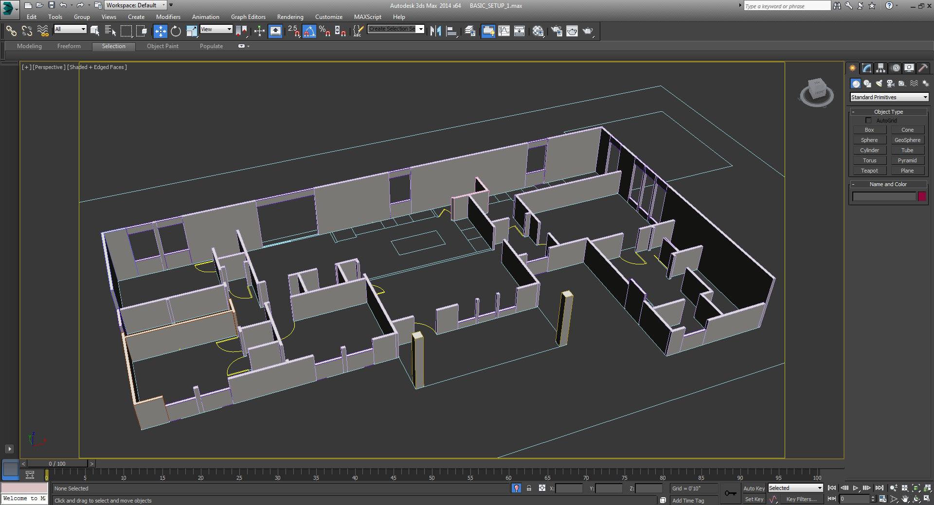 04_extrude walls floor plan