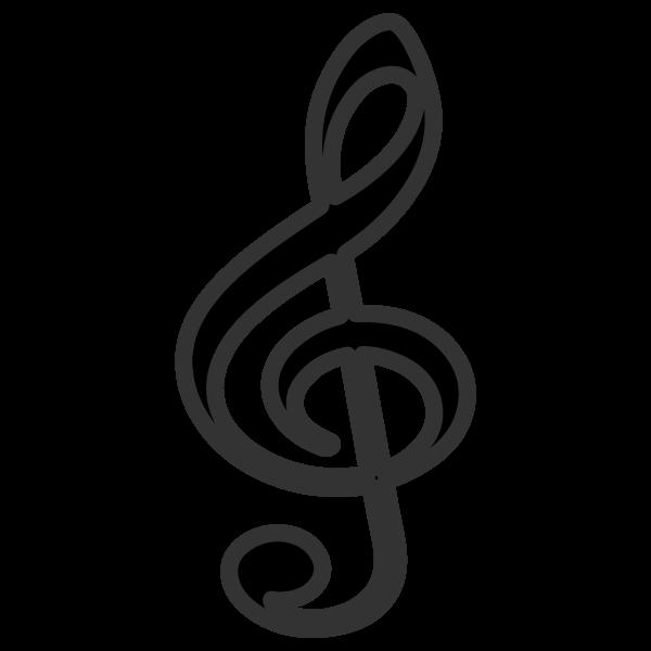 かわいい音符ト音記号の無料イラスト商用フリー オイデ43