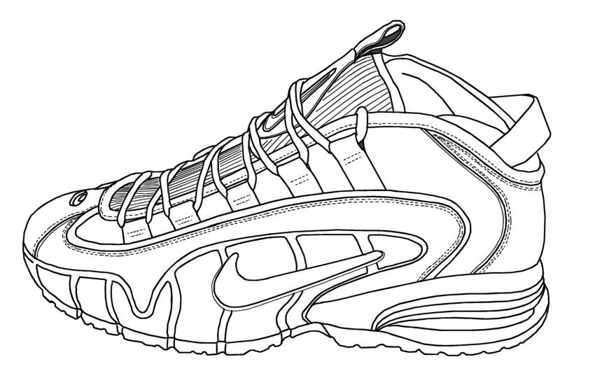 30 Jordan Sneakers Coloring Pages - Free Printable Coloring Pages