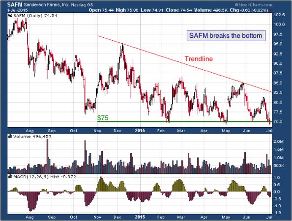 1-year chart of Sanderson (NASDAQ: SAFM)