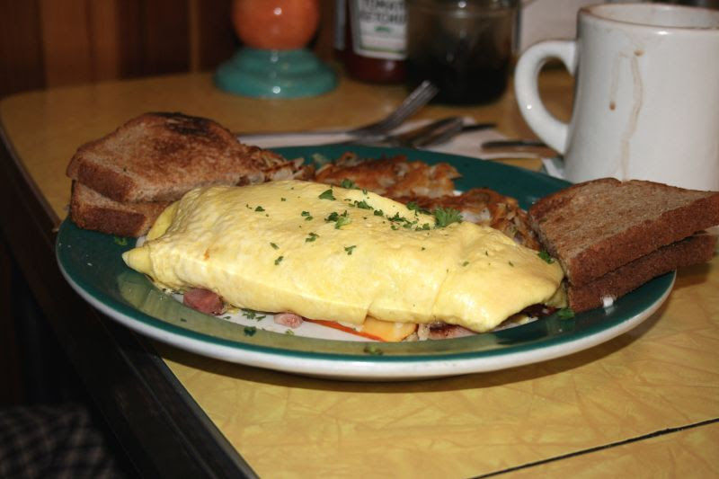 Ham and munster cheese omelet