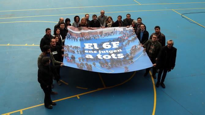 La imatge de la campanya contra el judici del 6-F