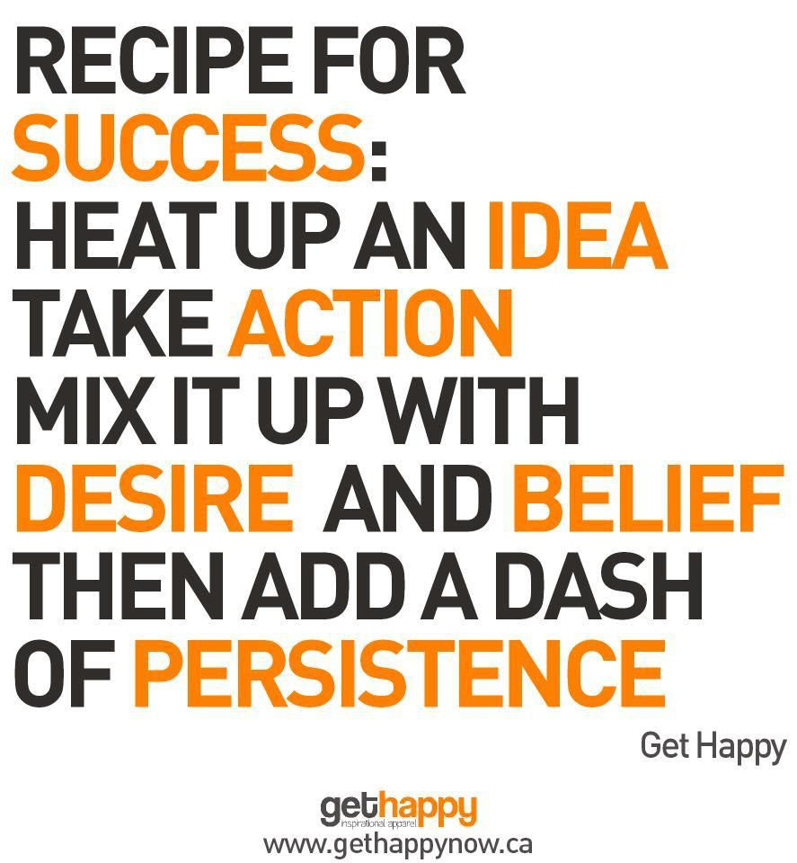 Recipe For Success Quotes. QuotesGram