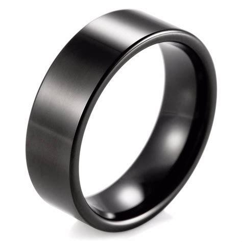 2019 Latest Matte Black Men's Wedding Bands