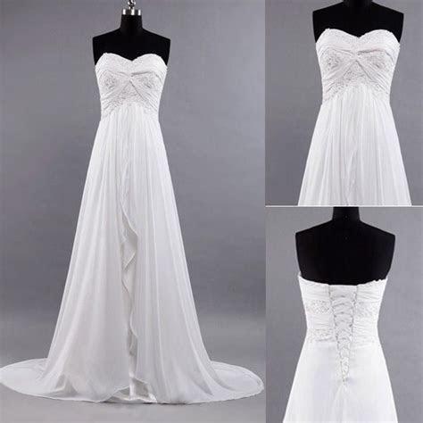 My FAV!!! New White / Ivory Beach Wedding Dress Brides