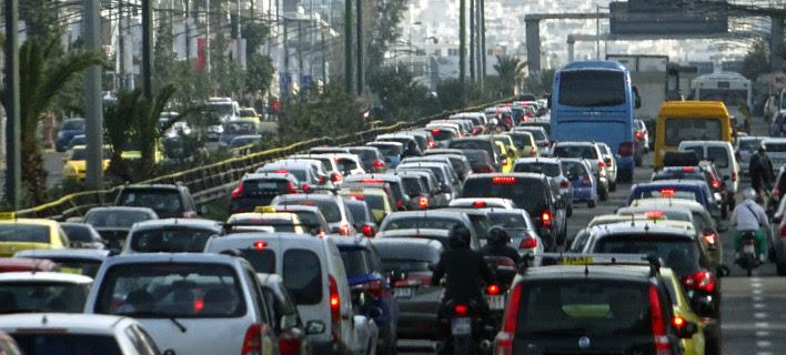 Φωτογραφία: Eurokinissi- Κίνηση στους δρόμους της Αθήνας