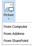 SharePoint Insert Picture button