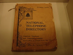 Telephone Directory, 1896
