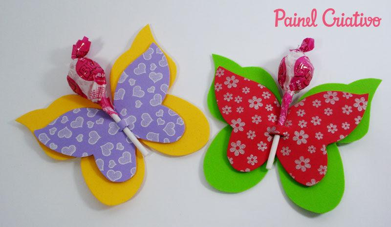 como fazer lembrancinha EVA borboletinha porta pirulito dia das criancas volta as aulas festa aniversario infantil (3)