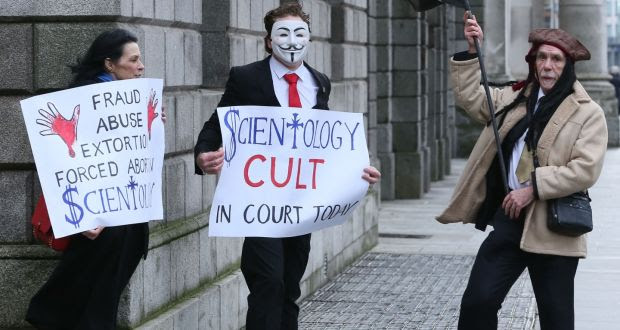 Scientologist admits complaint 'could have been more temperate' Zabina Collins sent school principal a link to a naked picture of a former church member  about 22 hours ago Anti-Church of Scientology protesters  stage a  demonstration outside the Four Courts in Dublin before an action involving a member of the church, Zabrina Collins. Photograph: Courts Collins Anti-Church of Scientology protesters stage a demonstration outside the Four Courts in Dublin before an action involving a member of the church, Zabrina Collins. Photograph: Courts Collins