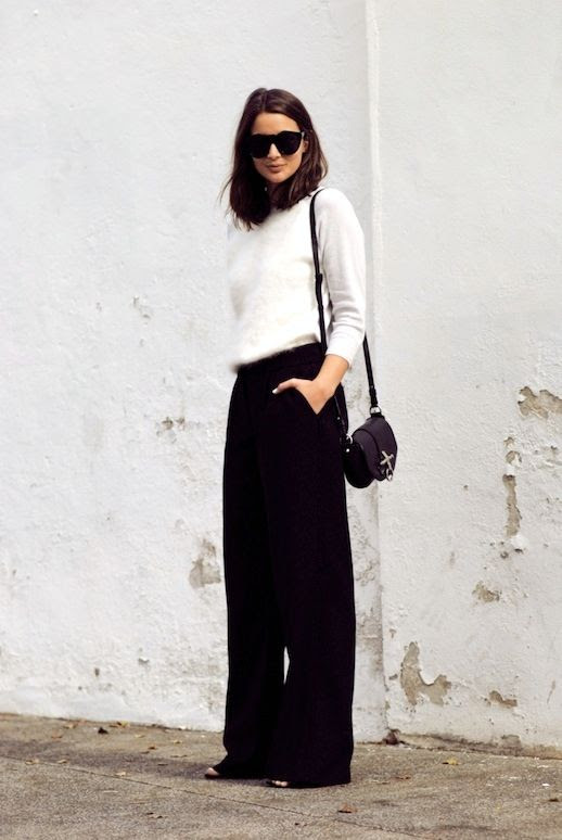 Le Fashion Blog Blogger Style Fuzzy Sweater Givenchy Bag Wide Leg Pants Via Harper And Harley