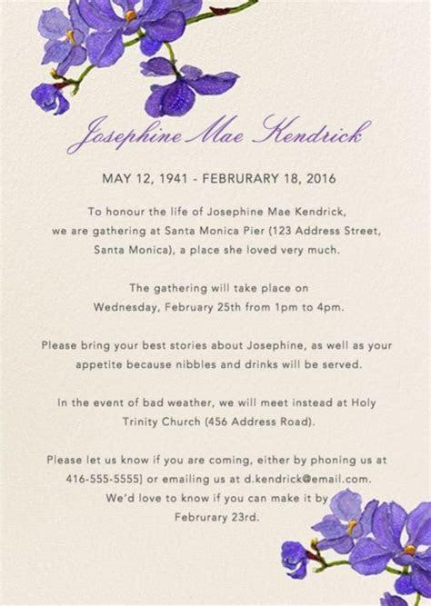 39 Best Funeral Reception Invitations   Teta Georgette