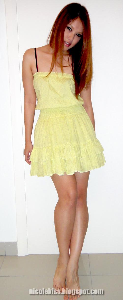 victoria secret yellow sundress