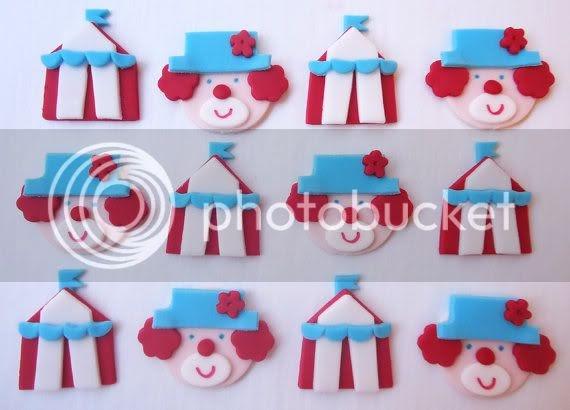 Edible Circus Cake Toppers