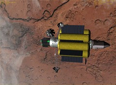 VASIMR Spacecraft with Mars Lander