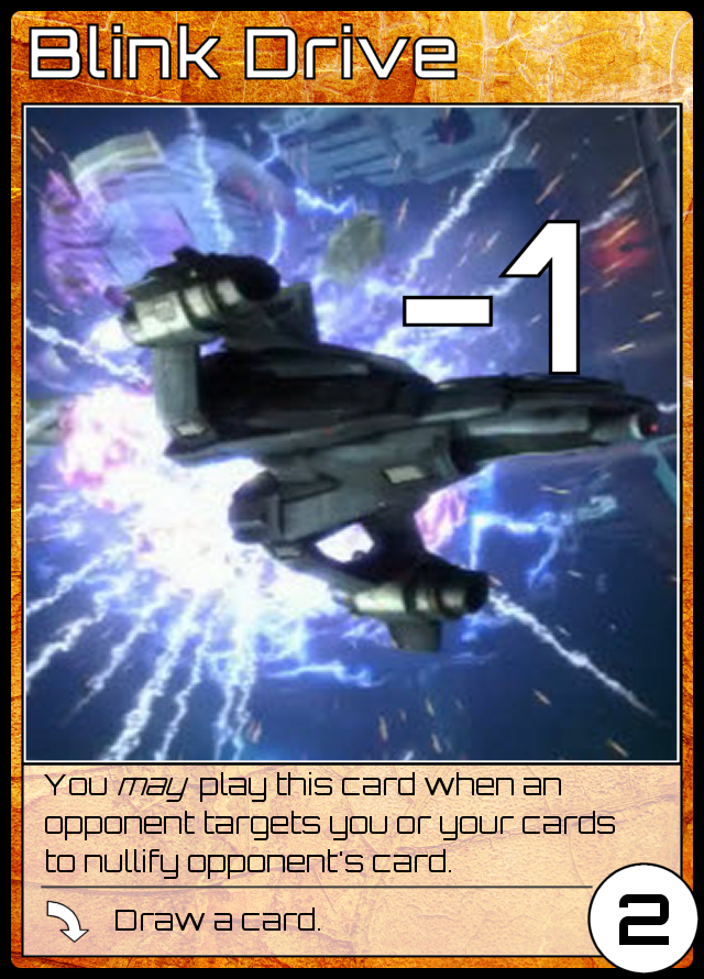 -1, 2ER, You may play this card when an opponent targets you or your cards to nullify opponent's card, played: draw a card.