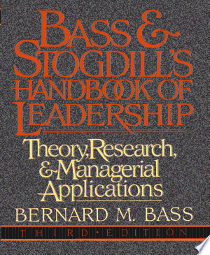 William Books: Download Bass & Stogdill's Handbook of Leadership