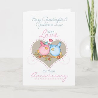 Granddaughter & Grandson-in-Law Anniversary Card W card