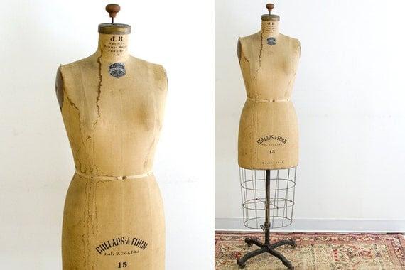 1948 Vintage JR Bauman Dress Form Cast Iron Base