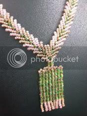 Green and Orange Necklace Variation