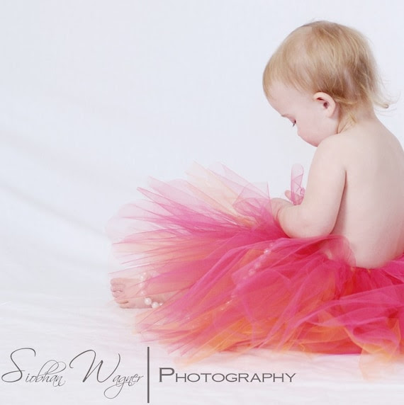 Hot Pink tutu, Baby girl sizes newborn, 3,6,9,12,18.24 months, Birthday dress up and photo prop, you choose size- TROPIC TWIST