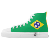 Brazilian Football Flag Printed Shoes