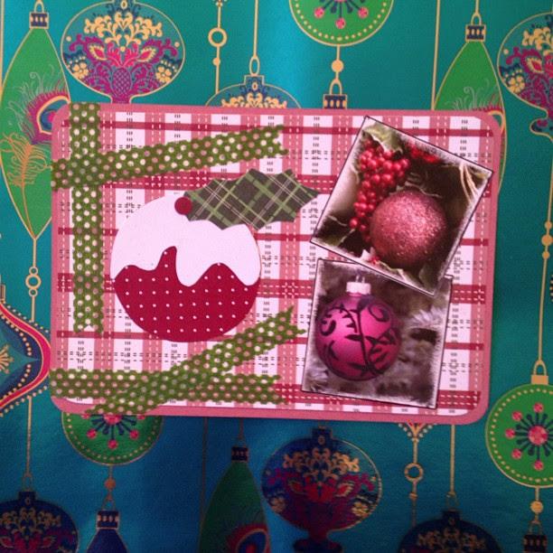 #christmas #pudding #baubles #washitape #postcard #snailmail