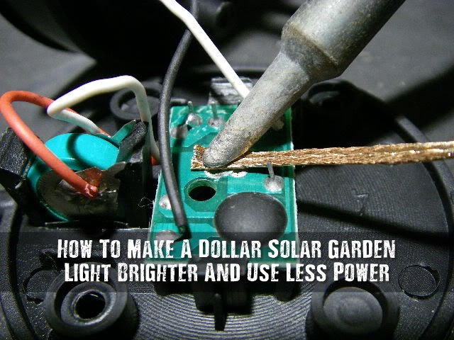 How To Make A Dollar Solar Garden Light Brighter And Use Less Power  SHTF Prepping