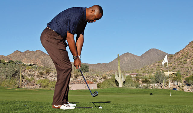 Staying low when chipping