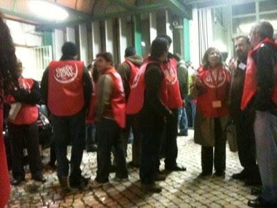 Piquete do Metro de Lisboa - Estação das Picoas - Foto de Teresa Santos