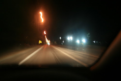 lights on the roadside