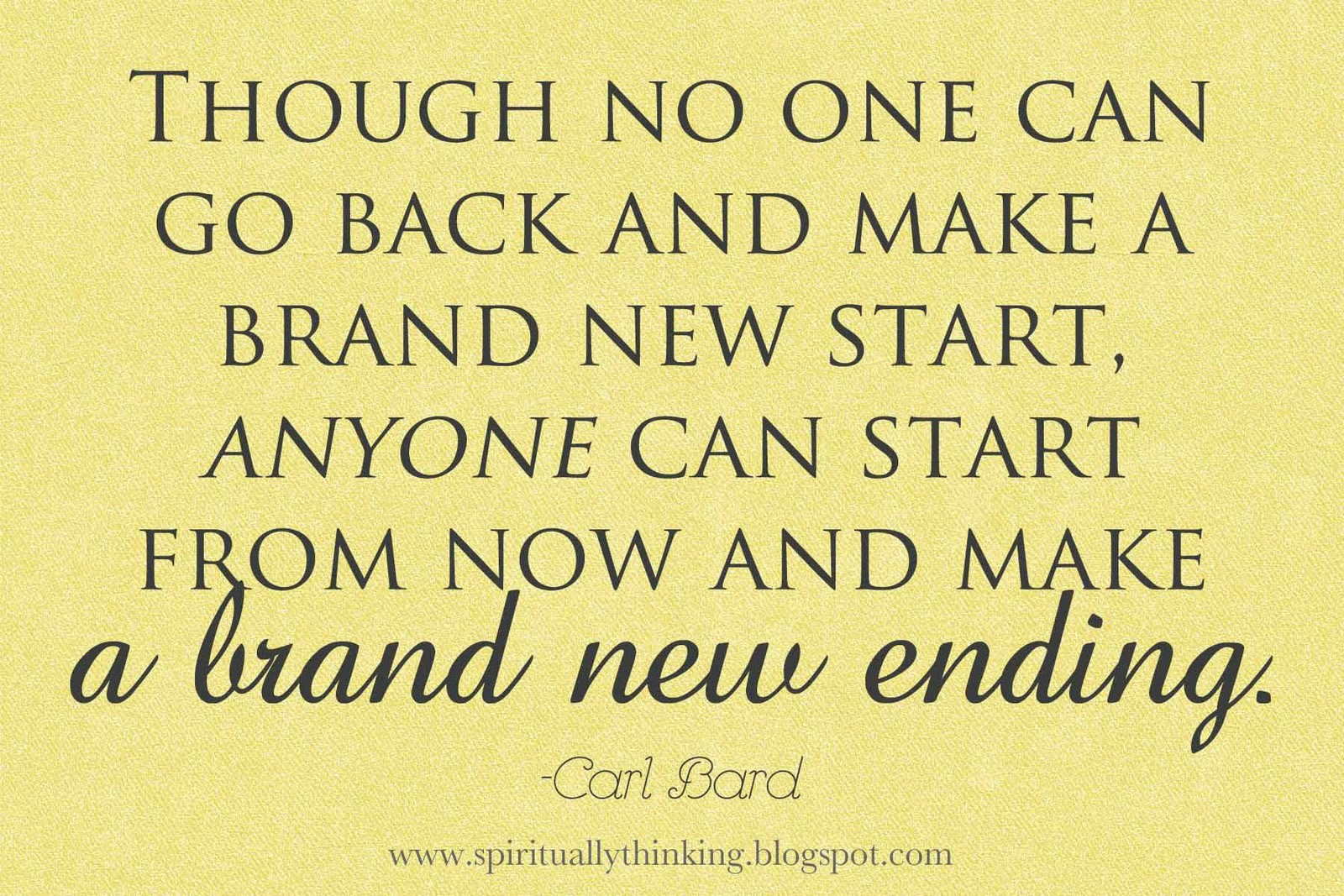 Starting A New Life Quotes Life Quotes