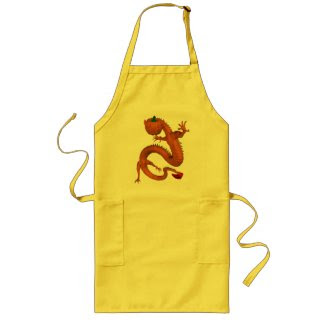 Orange Halloween Pumpkin Dragon Aprons