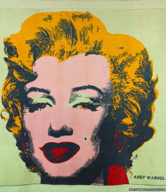 Andy Warhol image of Marilyn Monroe